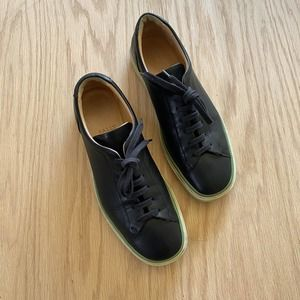 BALLY Black Leather Sneaker Shoes 38.5 US 8